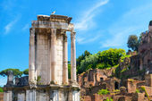 The Temple of Vesta in Roman Forum, Rome, — Foto de Stock