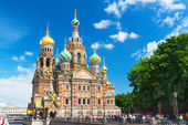 Church of the Savior on Spilled Blood in Saint Petersburg — Stock Photo