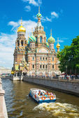 Church of Savior on Spilled Blood in St Petersburg, Russia — Stock Photo