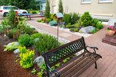 A beautiful home garden — Stock Photo
