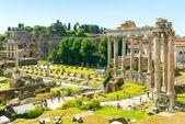 Forum romanum i rom — Stockfoto
