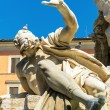 Detail of the Fountain of the Four Rivers at the Piazza Navona i — Stock Photo #49337825