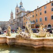 Fountain of Neptune at the Piazza Navona in Rome — Stock Photo #49337853