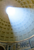 The famous light ray in Rome Pantheon — Stock Photo