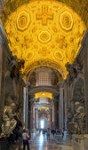 Interior of Saint Peter's Basilica in Rome — Stock Photo