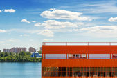 Warehouse on the banks of the river  — Stockfoto