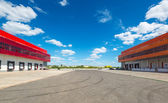 Warehouses on a background of blue sky — Stock Photo