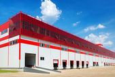 Warehouse on a background of blue sky — Stock Photo