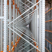 Metal channel section in a storage room — Stock Photo