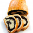 Sweet roll filled with poppy seeds — Stock Photo