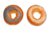 Bagels with poppy seeds and sesame — Stock Photo