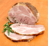 Roasted pork neck — Stock Photo