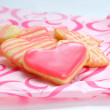 Valentine cookies in the shape of heart — Stock Photo