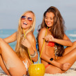 Stock Photo: Women on summer vacation or holiday