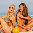 Women on summer vacation or holiday - Stock Photo