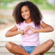 Pretty afro teen - Stock Photo