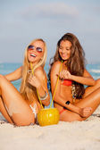 Women on summer vacation or holiday — Stock Photo