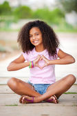 Pretty afro teen — Stockfoto