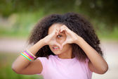 Heart shape kid — Stock Photo