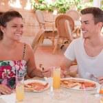 mangiare la colazione all'inglese — Foto Stock