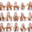 Multiple gestures or signs — Foto Stock