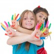 Children playing with paint — Stock Photo
