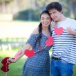 Valentines day couple — 图库照片