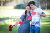 Valentines day couple — Stock Photo