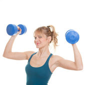 Woman working out — Stock Photo