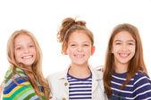 Kids happy smiles — Stock Photo
