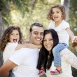Foto Stock: Parents and children