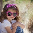 Summer kid wearing sunglasses — Stock Photo
