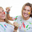 Stock Photo: Messy teens painting