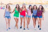 Spring break teens — Stock Photo