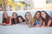 Fashion beach girls — Stock Photo
