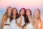 Happy smiling summer teens — Stock Photo