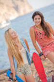 Fit healthy young summer women — ストック写真