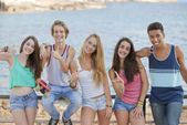 Group of confident teens — Stock Photo