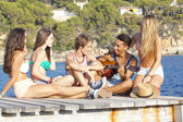 Mediterranean vacation beach party — Stock Photo