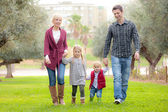Family mum dad and kids — Stock Photo
