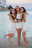 Friends on holiday in Mallorca — Foto Stock