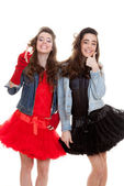 Fashion teens dressed to party — ストック写真