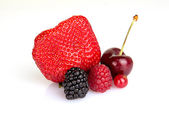 Close up of red summer fruits — Stock Photo