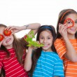 Children eating healthy food — Stock Photo #47466683