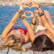 Hearts for summer vacation or holiday — Stock Photo #47466907
