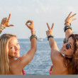 Young people happy on spring vacation or summer holiday — Stock Photo