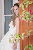 Pretty woman dressed for party, prom or graduation — Stock Photo