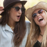 Girls laughing having fun in summer — Stock Photo #48260011