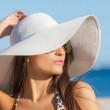 Summer woman on vacation or holiday — Stock Photo #48261265