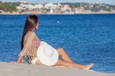 Relaxing beach holiday in malllorca — Stock Photo